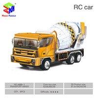 MagicShark 3D Puzzle DIY Paper RC Car Magic Puzzle Mixer Car Fire Truck Model Toys For