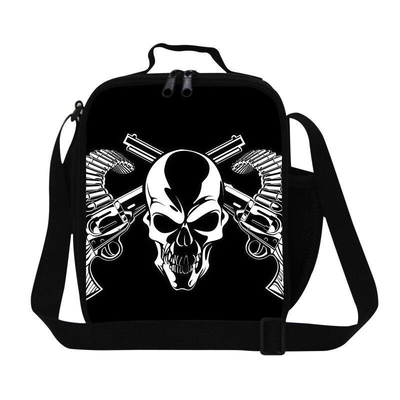 Tgmgm_bps004 Child Girl Boy Skull Bone Backpack Foldable