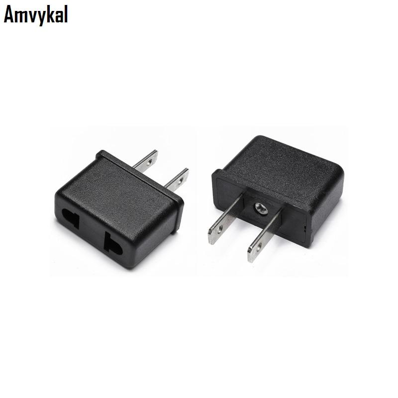 Amvykal Universal EU To US Plug Adapter Converter USA Travel Charger AC Power Electrical Socket Plug Adaptador 2000 Pcs/lot