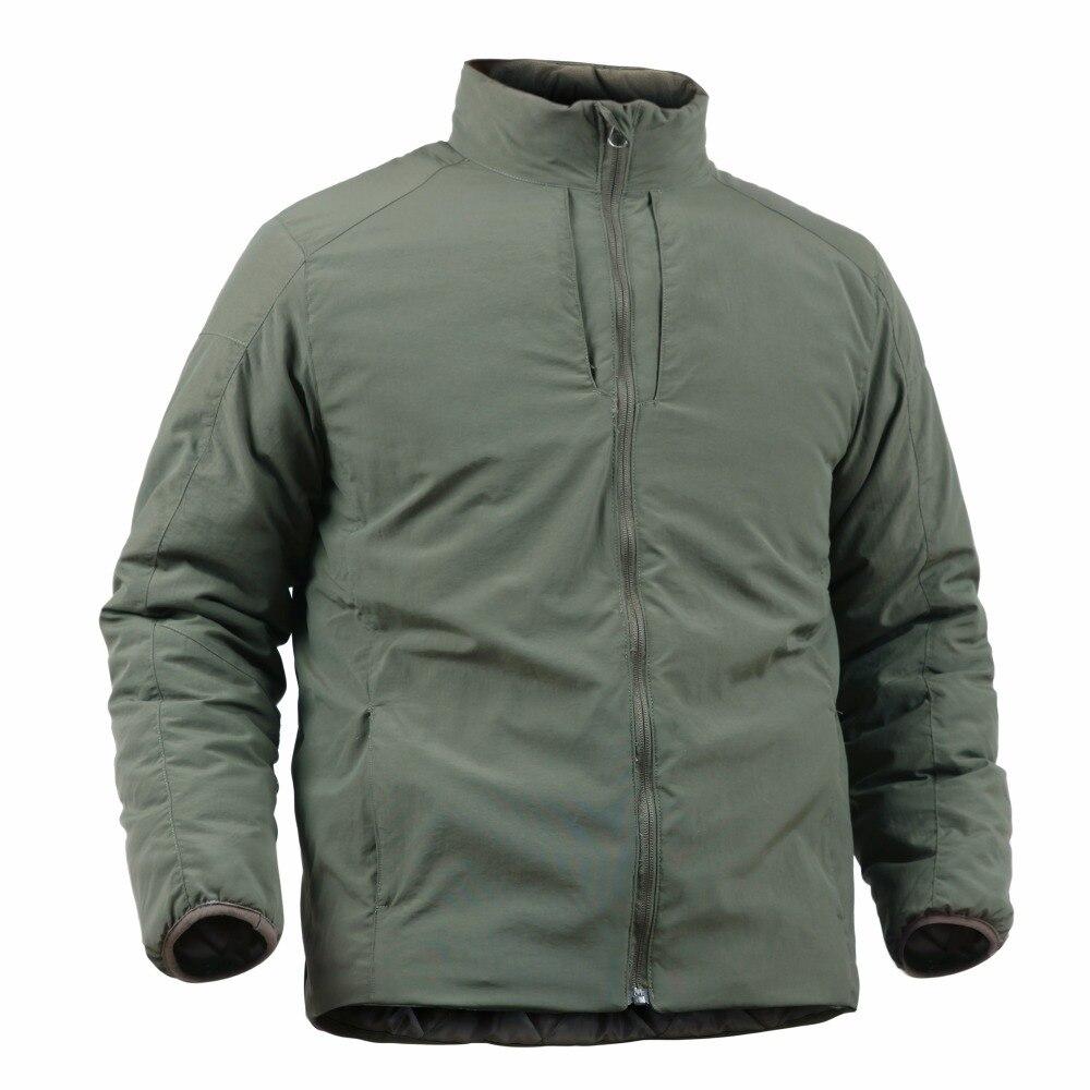 Livraison directe extérieur veste d'hiver pour homme tactique Combat coupe-vent Camping escalade Trekking ultraléger garder au chaud manteaux masculins