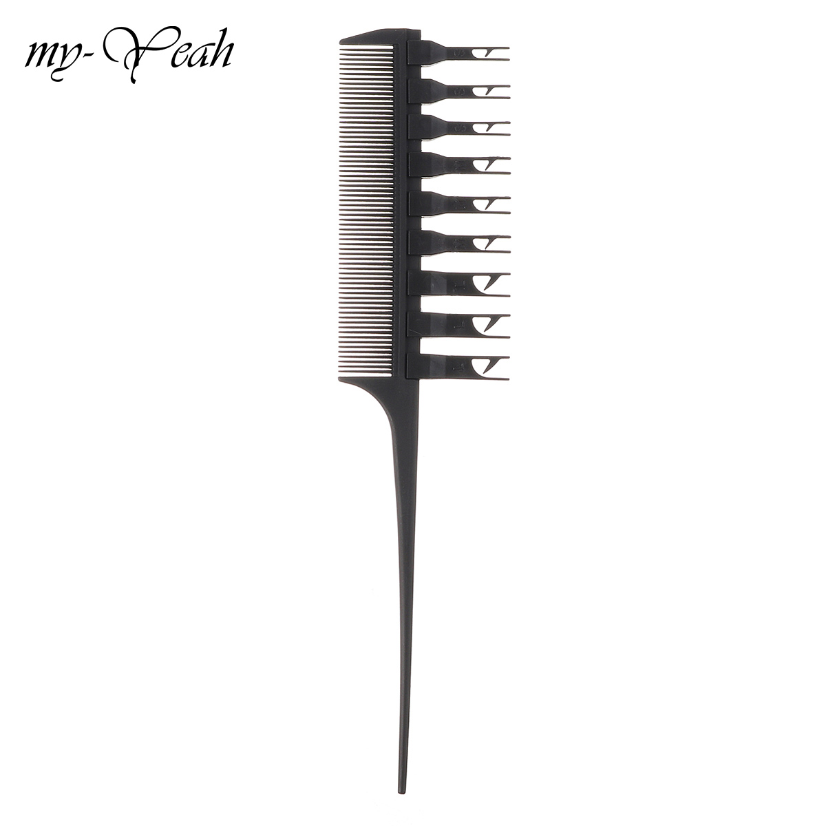 1Pcs Pro Beauty Salon Barber Dyeing Double Side Hair Highlight Comb Removable Teeth Special Antlers Comb Hair Styling Tools