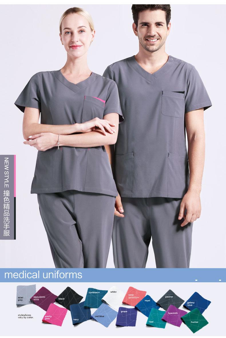 2d6cde22a97 Fashion Medical Scrub Sets Clothes Hospital Doctors Clothing Nurses Uniform  Dental Clinic Beauty Salon Workwear Overalls