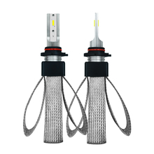 2pcs 60W LED car light 16000LM H1 H4 H7 H11 9005 9006  High-intensity headlights, aluminum strip heatsink design, 12V 24V.