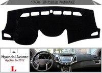 Car Dashboard Avoid Light Pad Instrument Platform Desk Cover Mats Carpets Auto Accessories For Hyundai Elantra