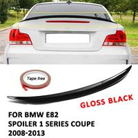 ABS Spoiler 1 SERIES COUPE BOOT TRUNK M PERFORMANCE GLOSS BLACK For BMW E82 2008 2013