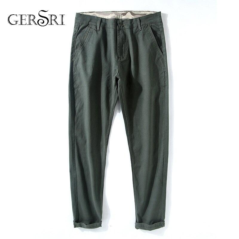 Gersri Trousers Mens Pencil-Pants Male Plus-Size Autumn Spring Young Cotton Outside