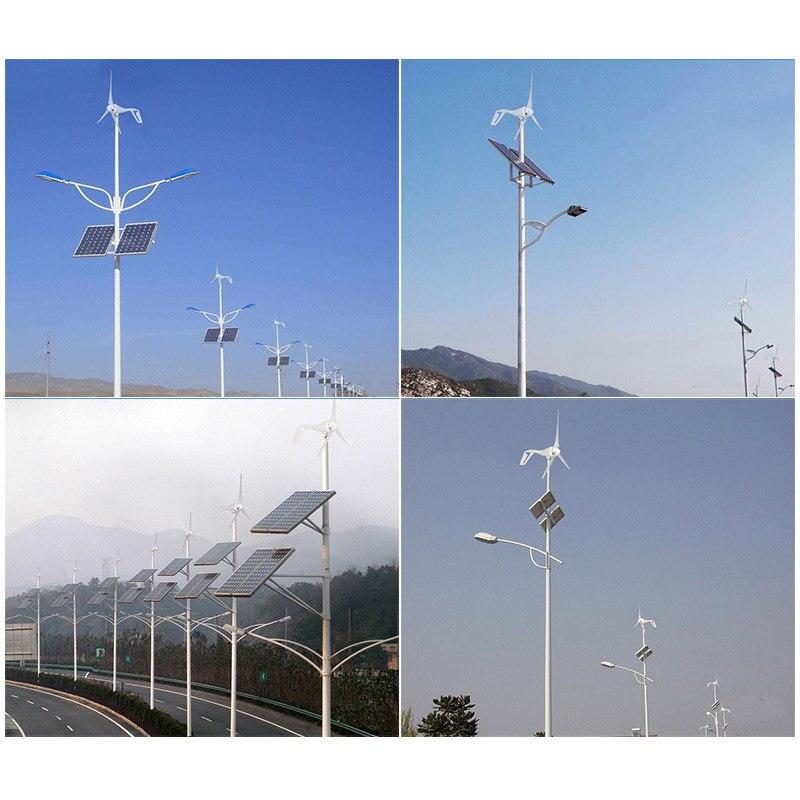 Livraison gratuite 100 W 200 W 300 W générateur de moulin à vent 12 V 24 V options 3 phases ac tension blanc 3 lames - 6