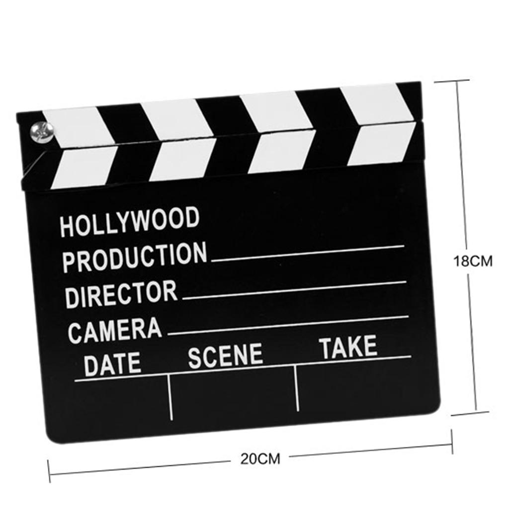 20x18 cm decoración del Partido de los director de Hollywood claqueta de la película Prop, 1 pieza Reloj de pared Vintage decoración del hogar resina Chef reloj estatua reloj de cuarzo mudo para sala de estar cocina decoración de pared colgante reloj