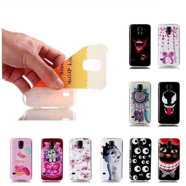 Luxury Ultra-thin Cartoon TPU Phone Case Cover For Samsung Galaxy S5 Neo SM-G903F G900 G900F SM-G900F I9600 Duos Case Cover Skin