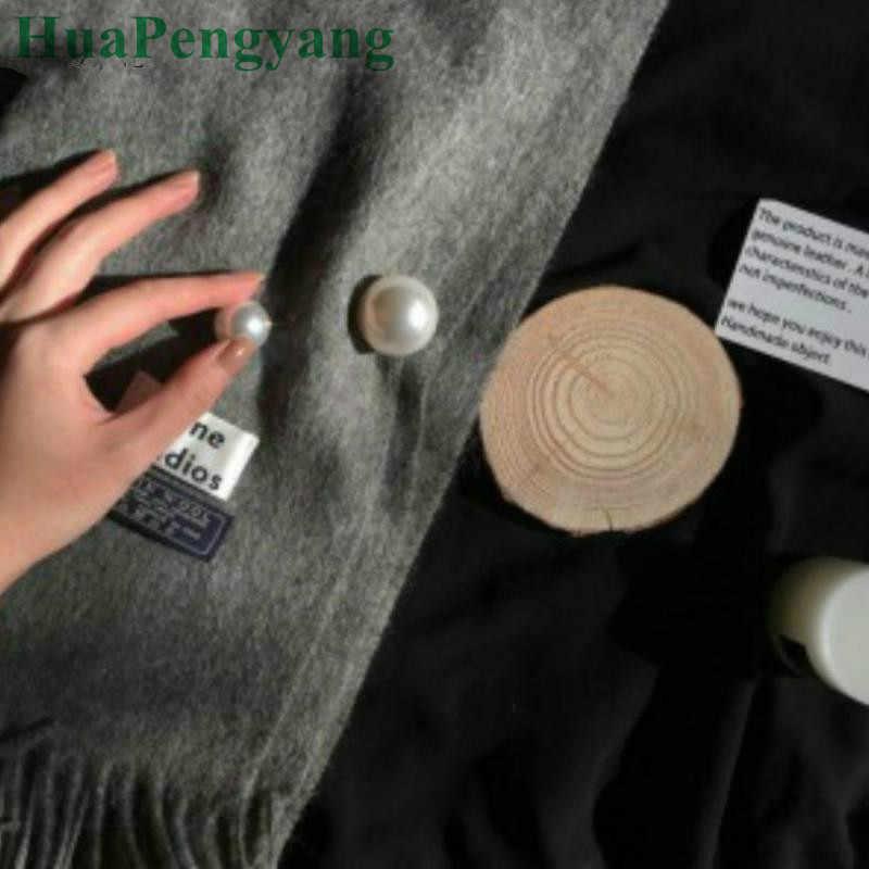 1 PCS semplice temperamento imitazione della perla del doppio di fascino classico di alta qualità spilla gioielli adatto per gli uomini e le donne del vestito spilla commercio all'ingrosso