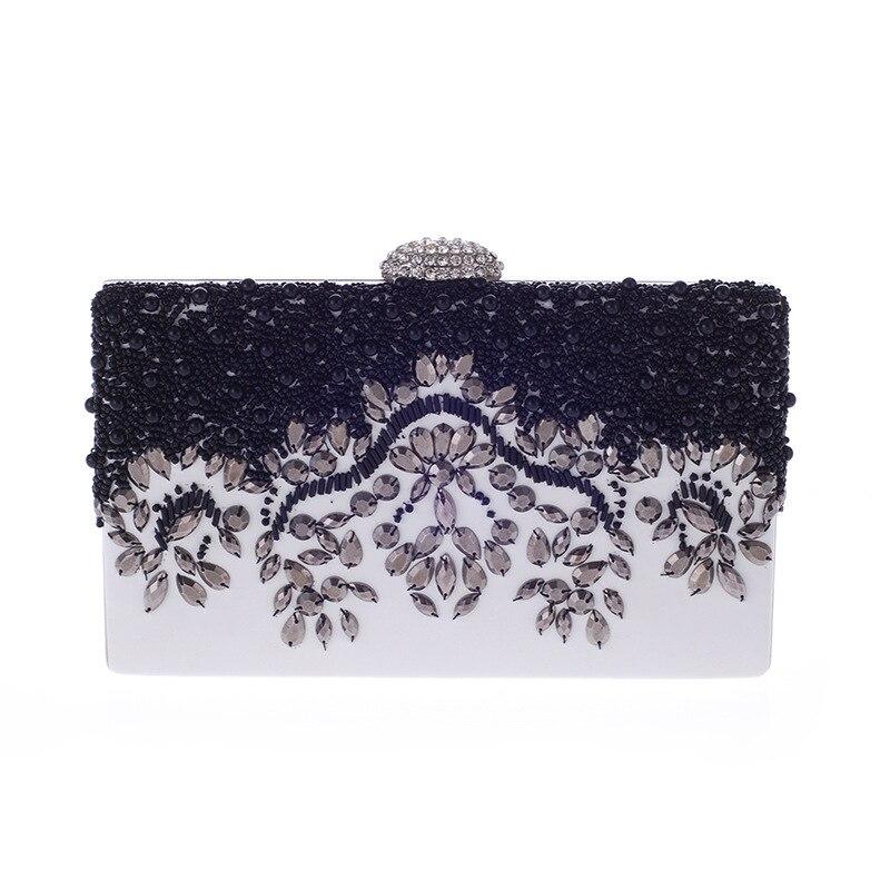 Fashion Beading Evening Hand Bag Rhinestone Diamond Women Clutch Bags Luxury Designer Mini Dinner Purse New Popular bolso XA703H