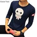 Cotton Casual Long Sleeve T-shirt Cartoon Image Print O-neck Mens Shirt Autumn Winter Men Undershirt Brand Men's Clothing M-5XL