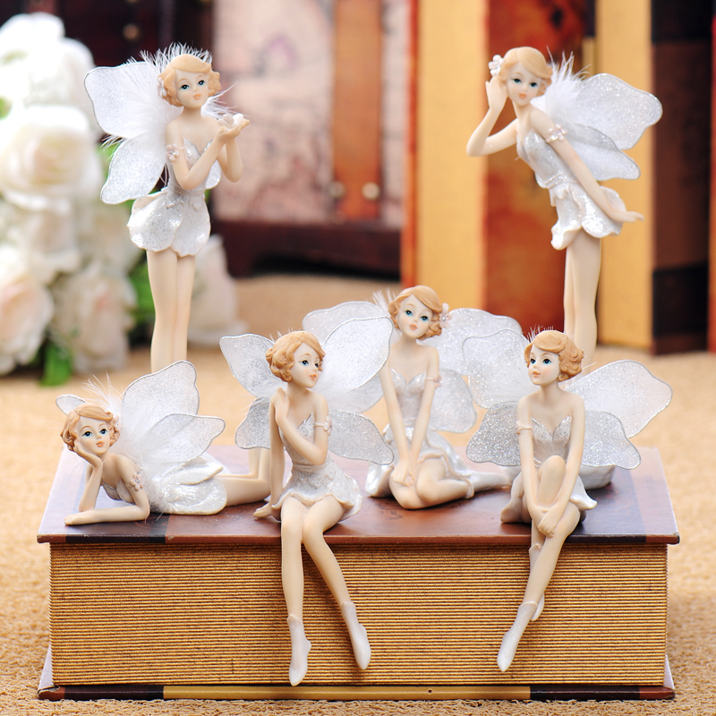 Home decoration home furnishing angel resin decorative for Art and craft decoration