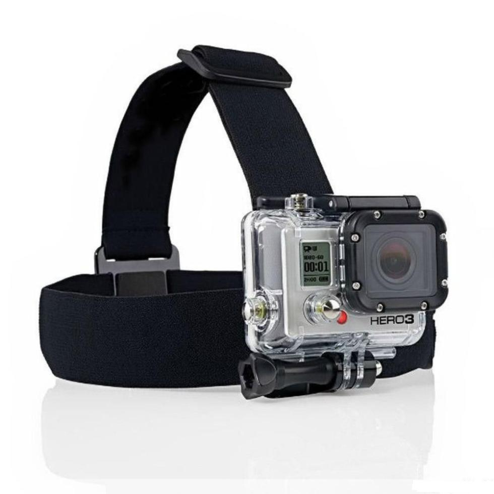 Head Strap Belt Mount with Nylon Strap for Action Sport Camera Accessory Headband with Fittings Adjustable Elastic Strap Headband Mount
