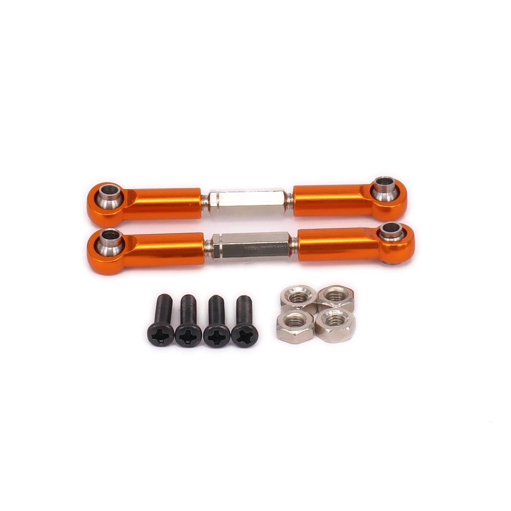 Alloy Steel Steering Servo Link Rear Arm Tie Rod Length Adjustable For Rc Car 1/12 Wltoys l959 l969 l979 l202 l212 l222 k959