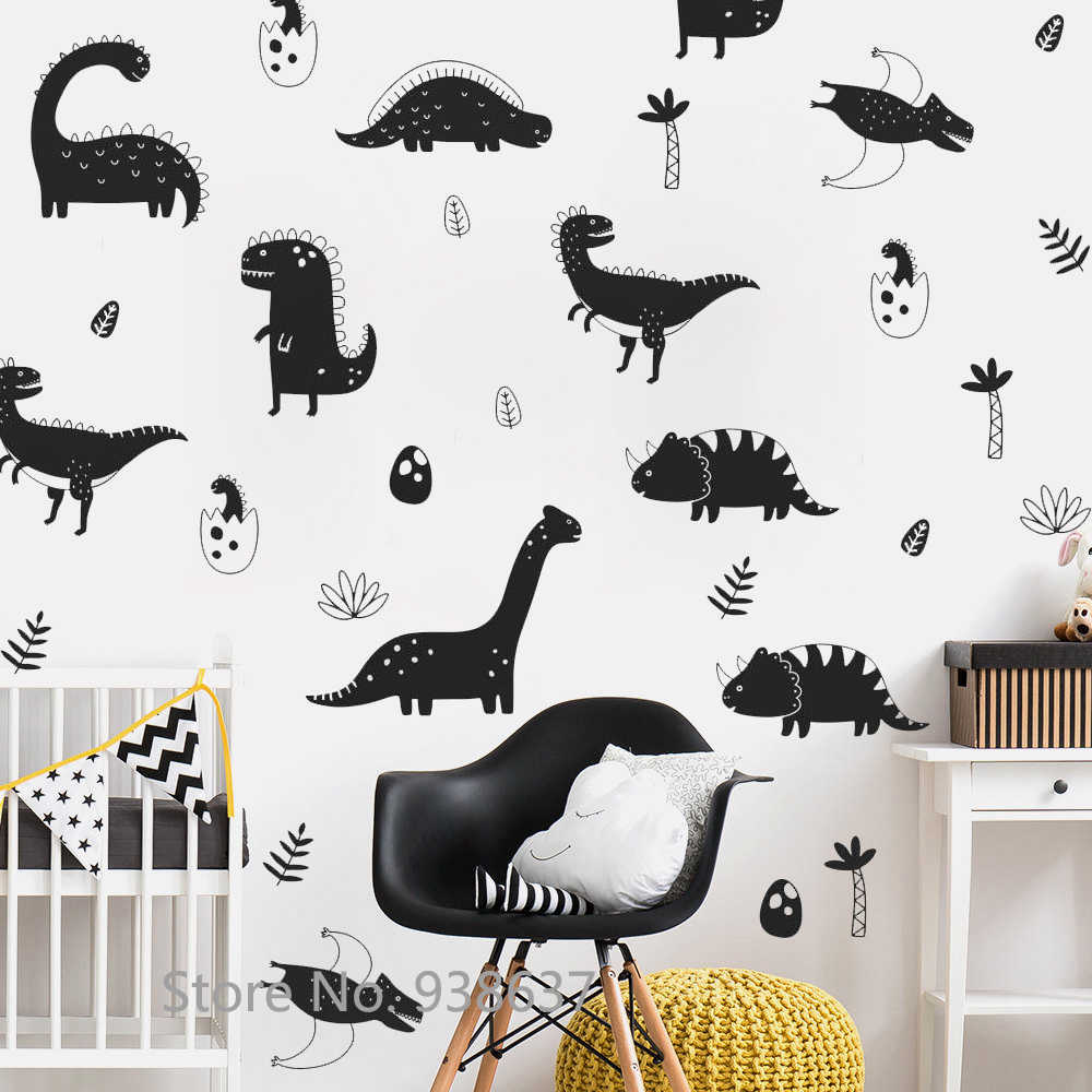 Dinosaur Wall Decals Sticker Boys Nursery Decor Vinyl Removable Diy Stickers Bedroom Self Adhesive Art Mural Jw301