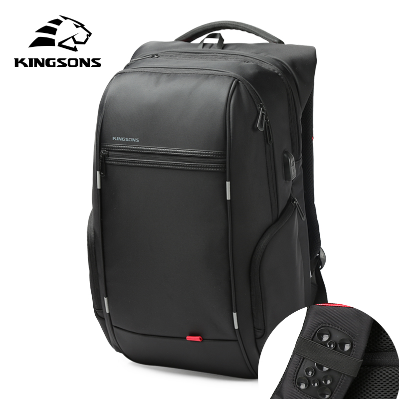 Kingsons USB Charge Anti Theft Backpacks Men Travel Waterproof School Bags College Teenager Male 13/15/17 inches Laptop Backpack ...