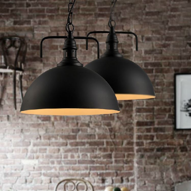 Retro industry iron pendant Light House Restaurant Bar Loft Vintage industrial dining room balcony white/black 1 head lamp ZAG loft edison vintage retro cystal glass black iron light ceiling lamp cafe dining bar hotel club coffe shop store restaurant