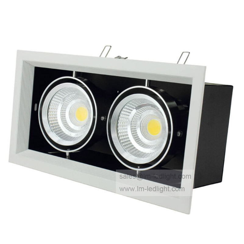 20w 2500lm 3150k warm white light 10 x 2 led module 33 35v 2x10W Dimmable Grille Lights 20w Square COB LED ceiling Grille light Lamp LED bean pot light warm white