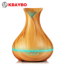 KBAYBO Air Humidifier Essential Oil Diffuser Ultrasonic Mist Maker Aroma Diffuser fogger wood grain with LED lights for home цена 2017