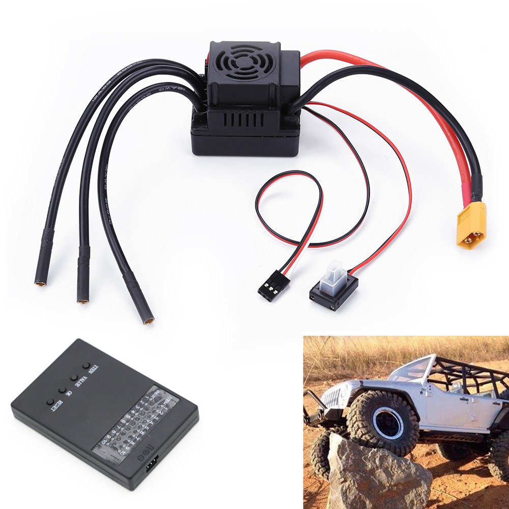Rc 80A Brushless ESC Electric Speed Controller With 5.8V / 3A SBEC 2-4S Programe Card For 1/8 1:8 RC Car