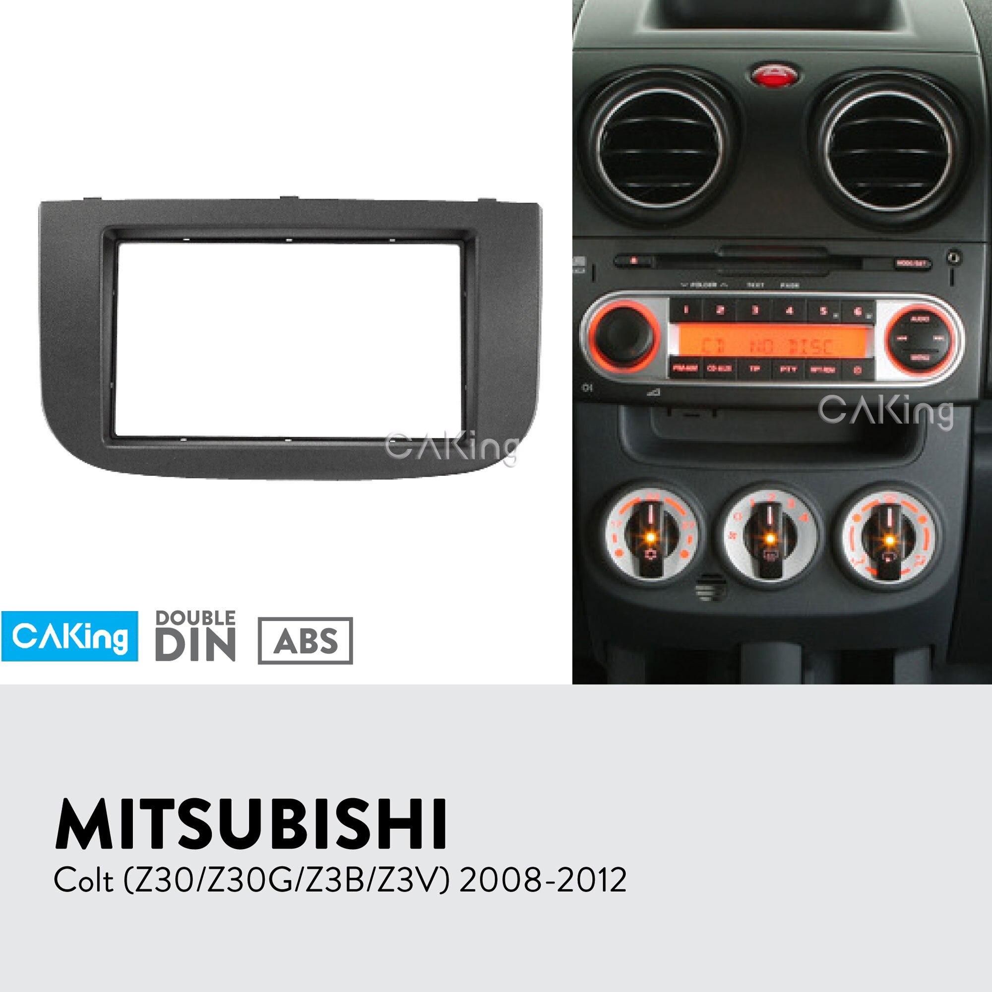 Car Fascia Radio Panel for MITSUBISHI Colt Z30 Z30G Z3B Z3V 2008 2012 Dash Kit Install