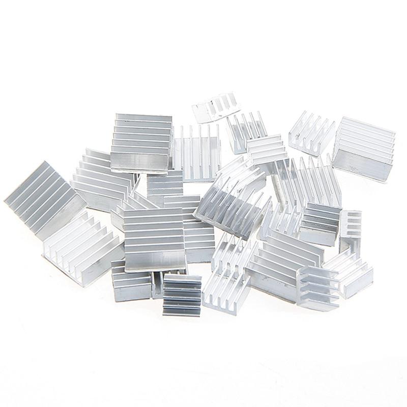все цены на 10Pcs Heatsink Fans Pure Aluminum Heat Sink For Cooling Pi 2 For Raspberry Pi 3 #R179T#Drop Shipping онлайн