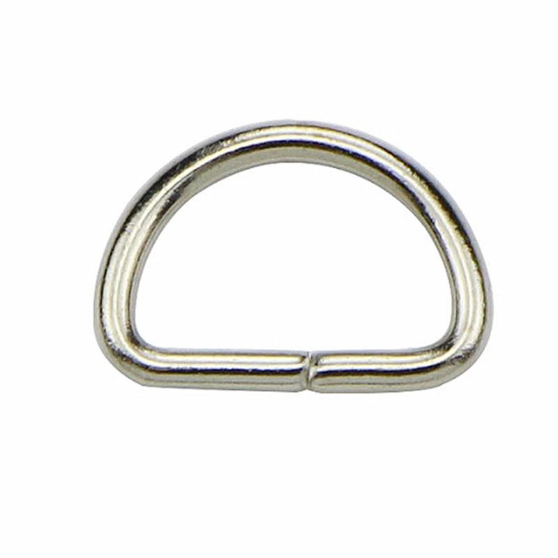 10Pcs/lot Matal D Ring D Jump Ring Snap Hook Trigger Lobster Clasps Clips DIY Bag Parts Accessories