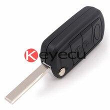Новый Uncut Складной 3 Кнопки Дистанционного ключа Дело Fob 433 МГц ID44 Чип Костюм для Land Rover Ranger Rover L322 Vogue ГУ-ВШЭ