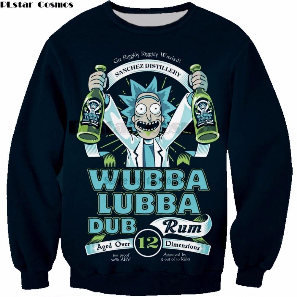 2e08ae8f3 PLstar Cosmos PLstar Cosmos Rick and Morty hoodies Anime 3D print Shirt  O-Neck Short Sleeve hooded Rick Morty Fans Sweatshirt