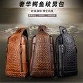 2017 новый мужской груди мешок кожи крокодила сумка мужчины диагонали пакет мешок Отдыха