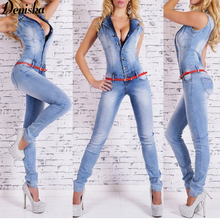 Jumpsuits rompers bodysuit s-xl jumpsuit overalls denim european jeans arrival girls
