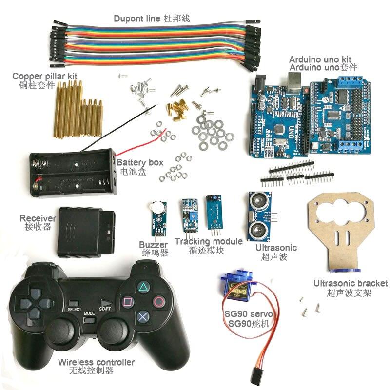 Kit de contrôle sans fil DOIT éviter les obstacles à ultrasons à 2 voies avec Servo SG90 pour voiture Robot Arduino