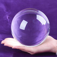 Ship From USA 120mm Rare Clear Asian Quartz Feng Shui Ball Crystal Ball Sphere Fashion Table Decor Good Luck Ball Free Shipping