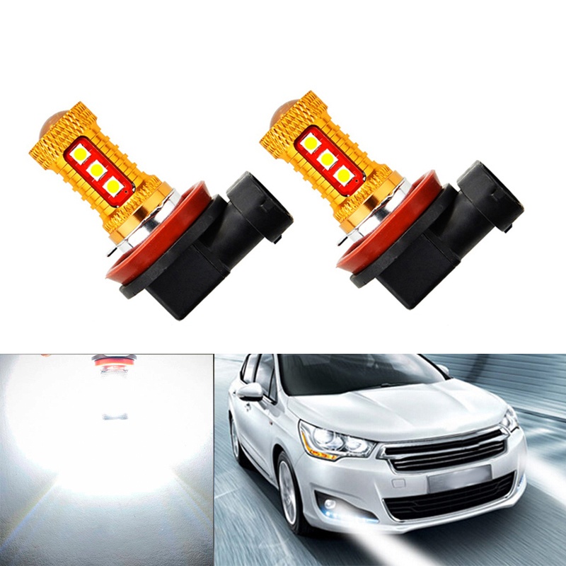 2x Super White <font><b>H8</b></font> H11 <font><b>CREE</b></font> Chip 2835 <font><b>LED</b></font> Fog Light Driving Bulbs For mazda 3 5 6 xc-5 cx-7 axela atenza image