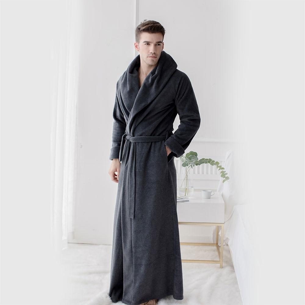 Men's And Women's Long Robes Fleece Floor Length Plus Size Bathrobes  Soft Sleepwear Loungewear Night Gown Pajamas  Nightwear