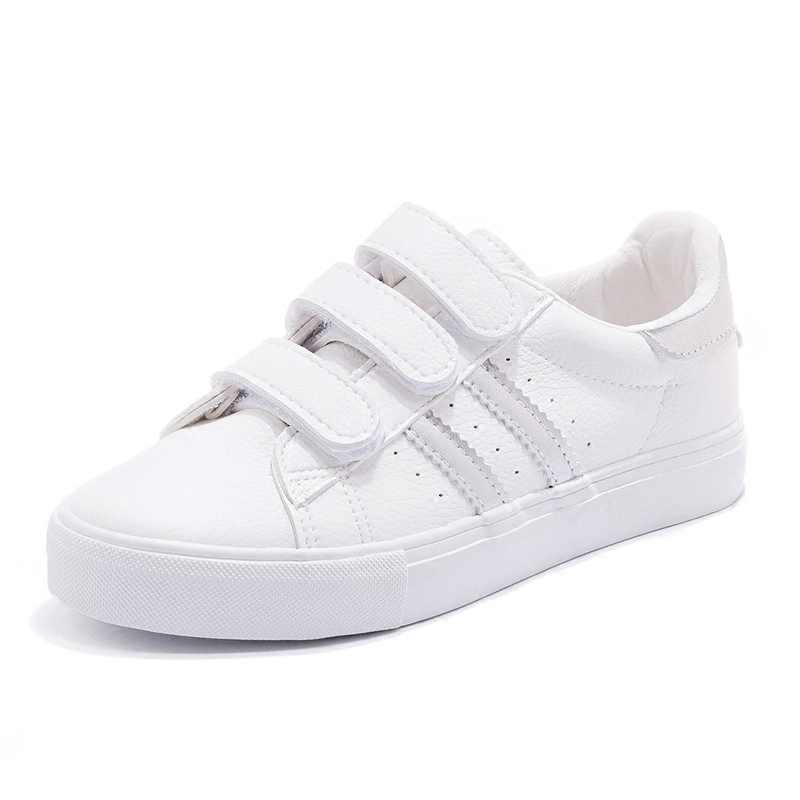 2018 new fashion women shoes casual high platform striped PU leather casual simple women casual white shoes sneakers.
