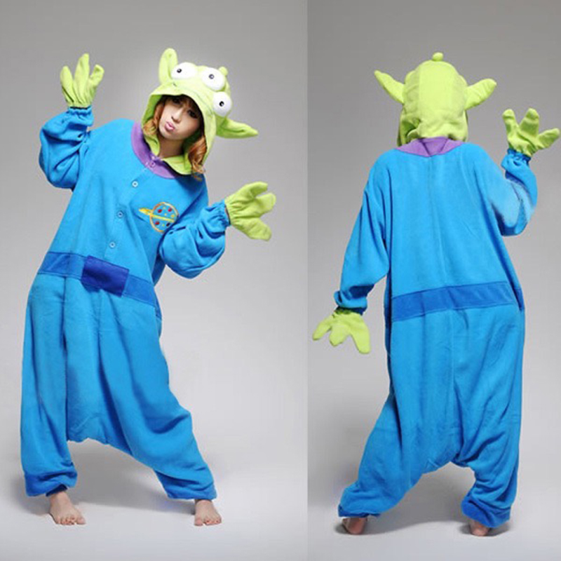 2019 Cartoon Sangan Cosplay Costumes Jumpsuit Fleece Pajamas Toy Story Aliens Costumes Pyjamas Onesies Performance Clothing