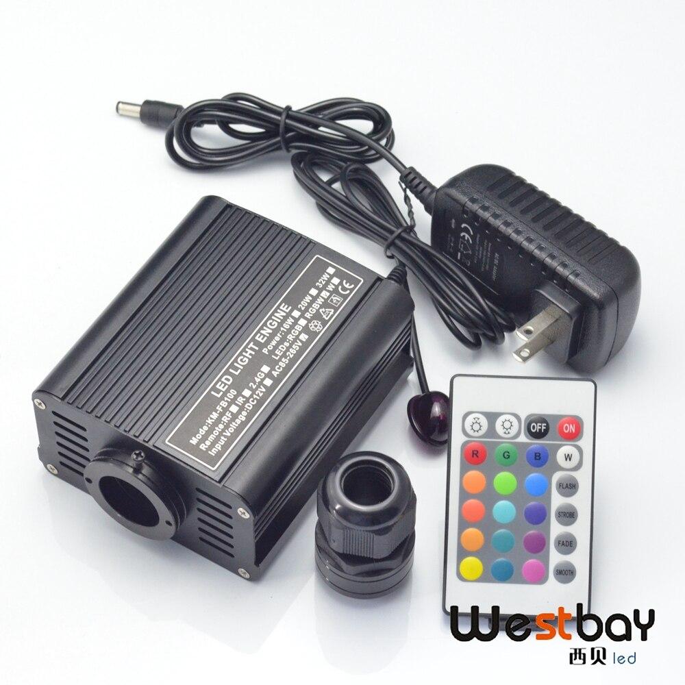 ФОТО NEW RGBW 16W LED Fiber Optic Engine Driver with 24keys IR Remote controller for all kinds fiber optics,US plug or Euro plug