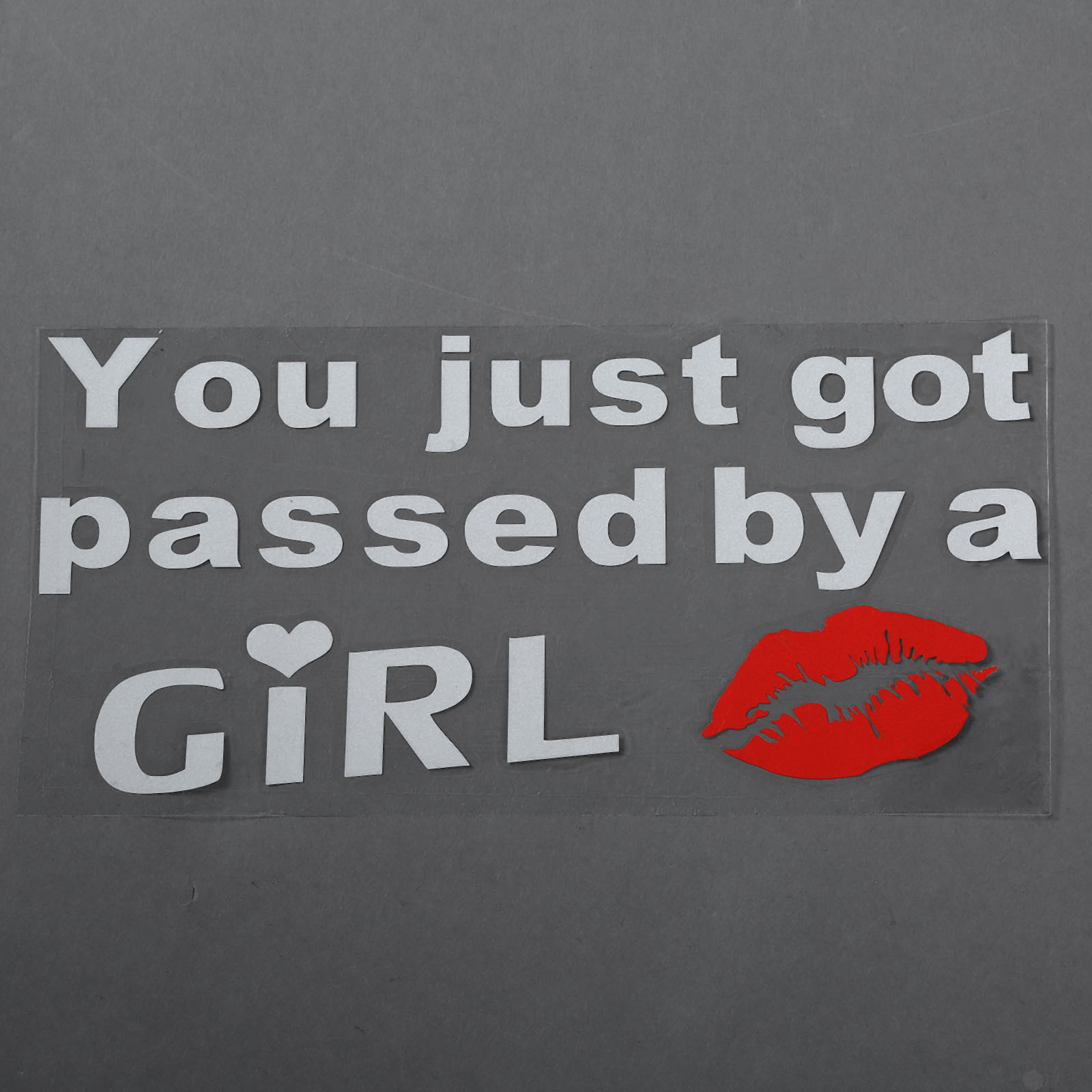 Car pass sticker design - 2016 New You Just Got Passed By A Girl With Lip Funny Car Sticker Truck Auto