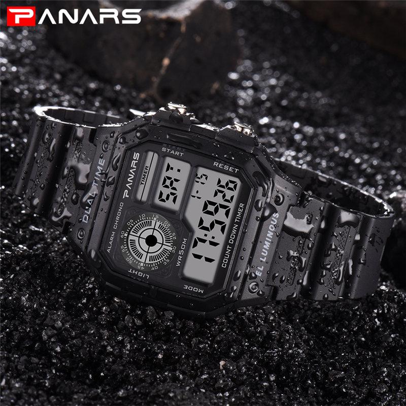 e870eb28132 PANARS Esportes Relógio Digital De Relógio de Pulso dos homens Relógio de  Pulso Militar relógios de