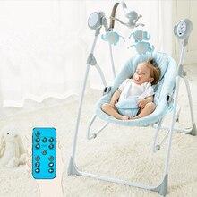Умный комфортная кровать детские качели электрическое кресло-качалка колыбели кроватки батут может лежать без каблука младенческой Sleeper с дистанционное управление