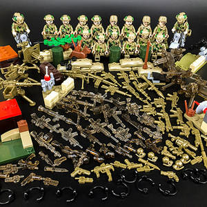 AUSINI military figures building blocks toys bricks war