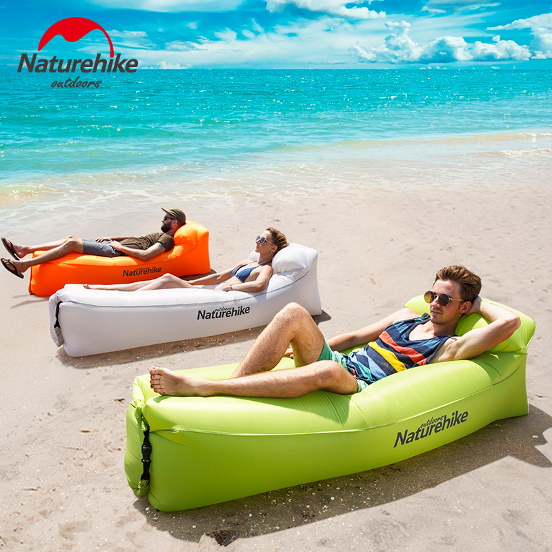 Naturehike Inflatable Air Sofa Portable Waterproof Camping Beach Sleeping Bag Foldable Lounger Inflating Mattress Outdoor norent brand waterproof inflatable mattress camping beach picnic air sofa outdoor swimming pool lazy bed folding portable chair