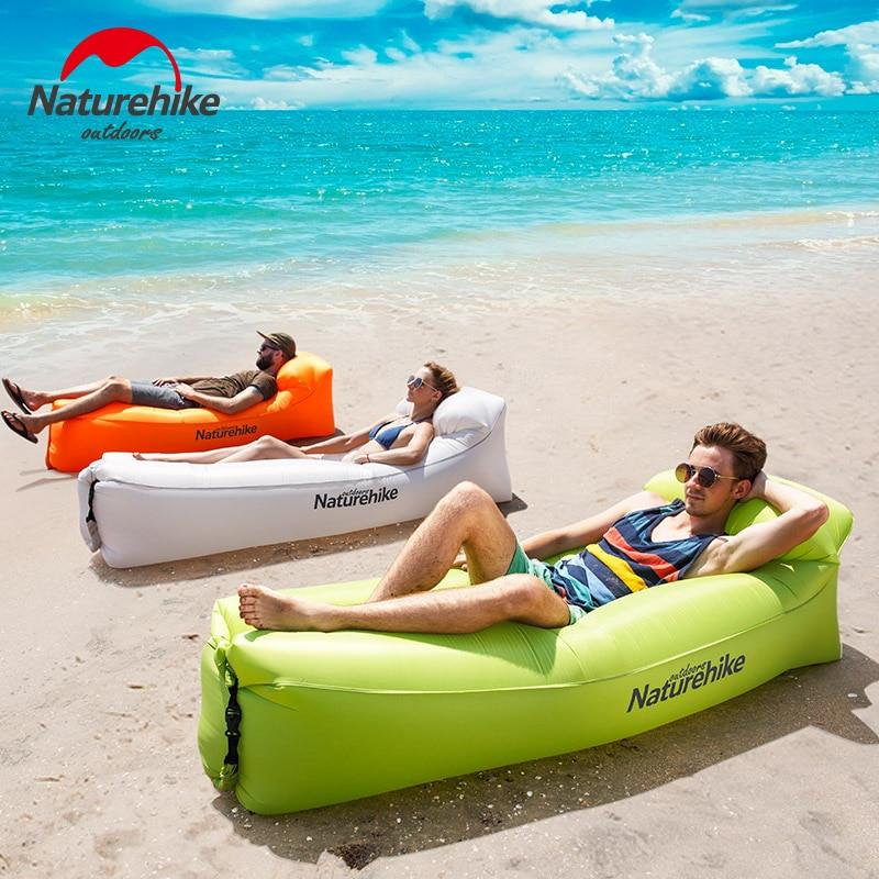 Naturehike Inflatable Air Sofa Portable Waterproof Camping Beach Sleeping Bag Foldable Lounger Inflating Mattress Outdoor