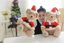 Lovely Teddy Bear In Santa Cloth With Red Hat  Premium Plush Super Soft Christmas Gift For Kids Children