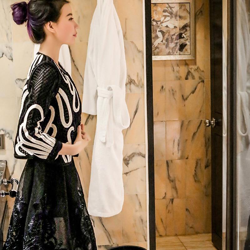 Veste Creux 2018 Dames Black Nouveau Fleur Élégante Manteau Broderie À Printemps Dentelle Automne 518 Noble Femmes Lâche Casual Survêtement Partie 8Orx8wqd