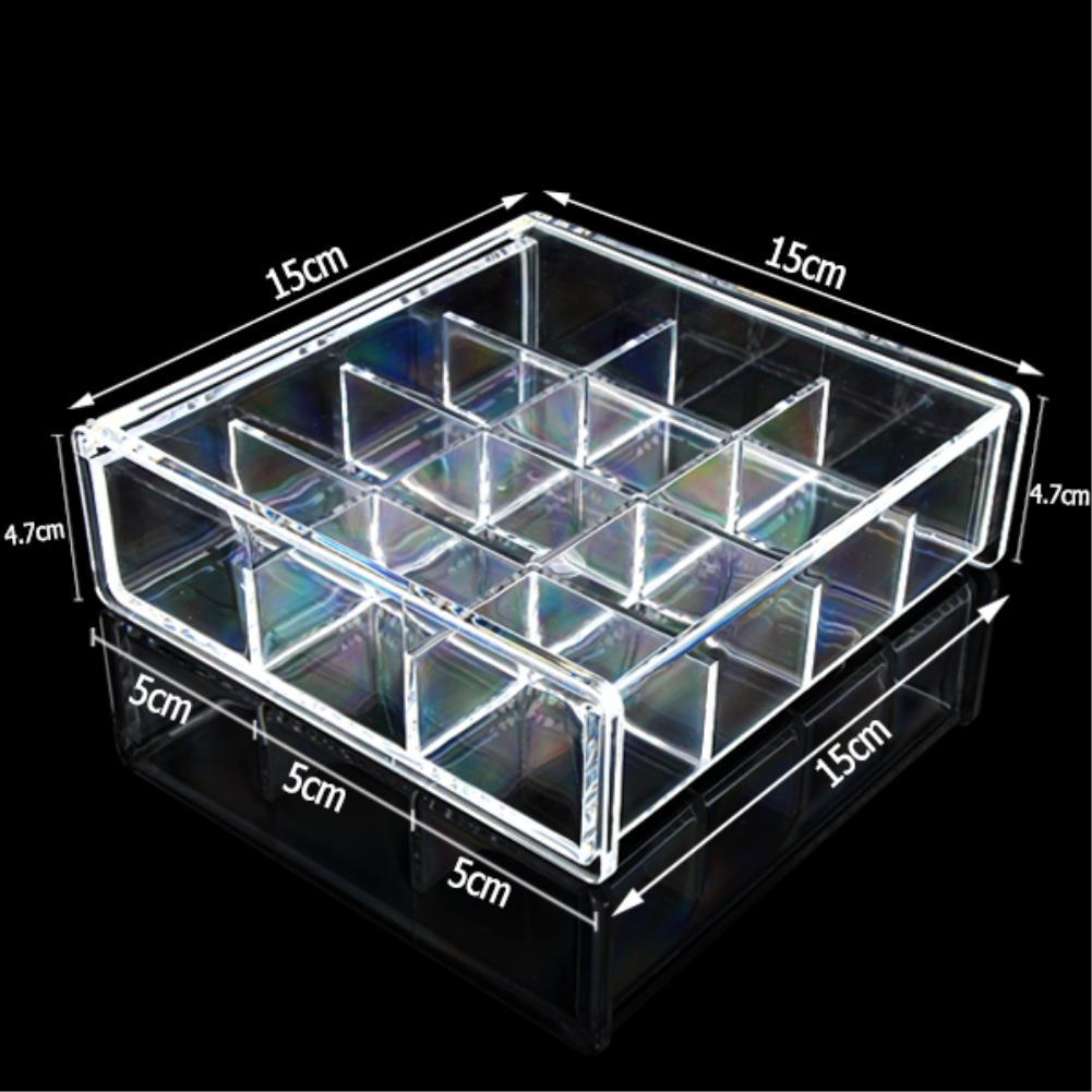 Vanity Clear Acrylic Storage 12 Grids Cosmetic Organizer With Cover Makeup Lipstick Holder Jewelry Case Tray Bath-in Jewelry Packaging u0026 Display from ... & Vanity Clear Acrylic Storage 12 Grids Cosmetic Organizer With Cover ...