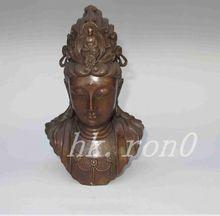 8.3inch Bronze statue of Guanyin Buddha head Favorites