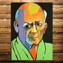 Pablo Picasso Portrait Canvas Painting Print Living Room Home Decoration Modern Wall Art Oil Painting Posters Pictures Framework self portrait facing death pablo picasso canvas painting living room home decoration modern wall art oil painting poster picture